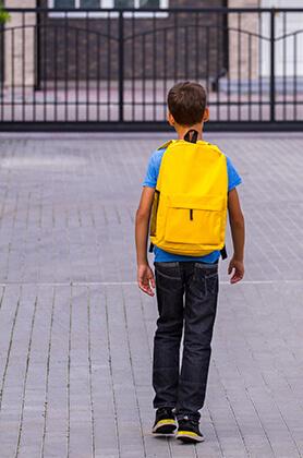 Boy with a backpack (Self-portrait) - Milan Krajnc