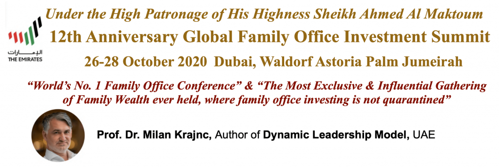 Family entrepreneurship award for life achievements United Arab Emirates - Milan Krajnc