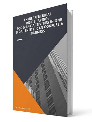 Entrepreneurial risk sharing: Too many activities in one legal entity, can confuse a business | E-book - Milan Krajnc ; Personal and Business Coach